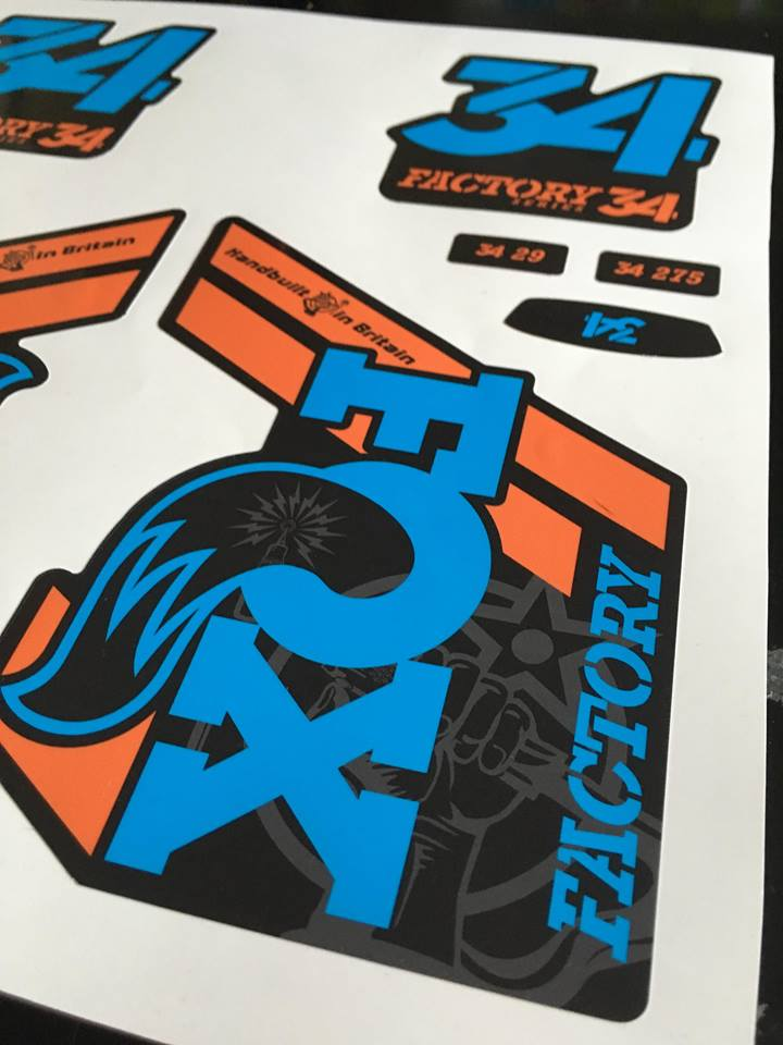 Fox Factory Orange MTB Themed 2018 Fork Graphcs 34 36 40
